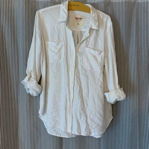 Super soft white button down shirt